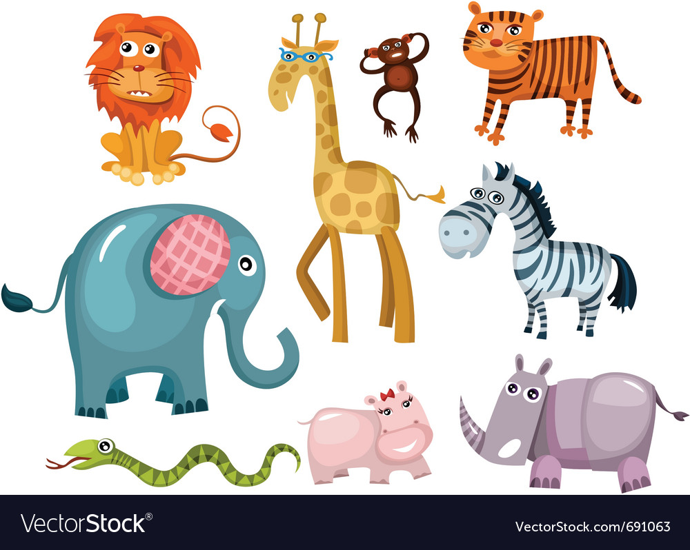 Animal set vector | Price: 5 Credit (USD $5)