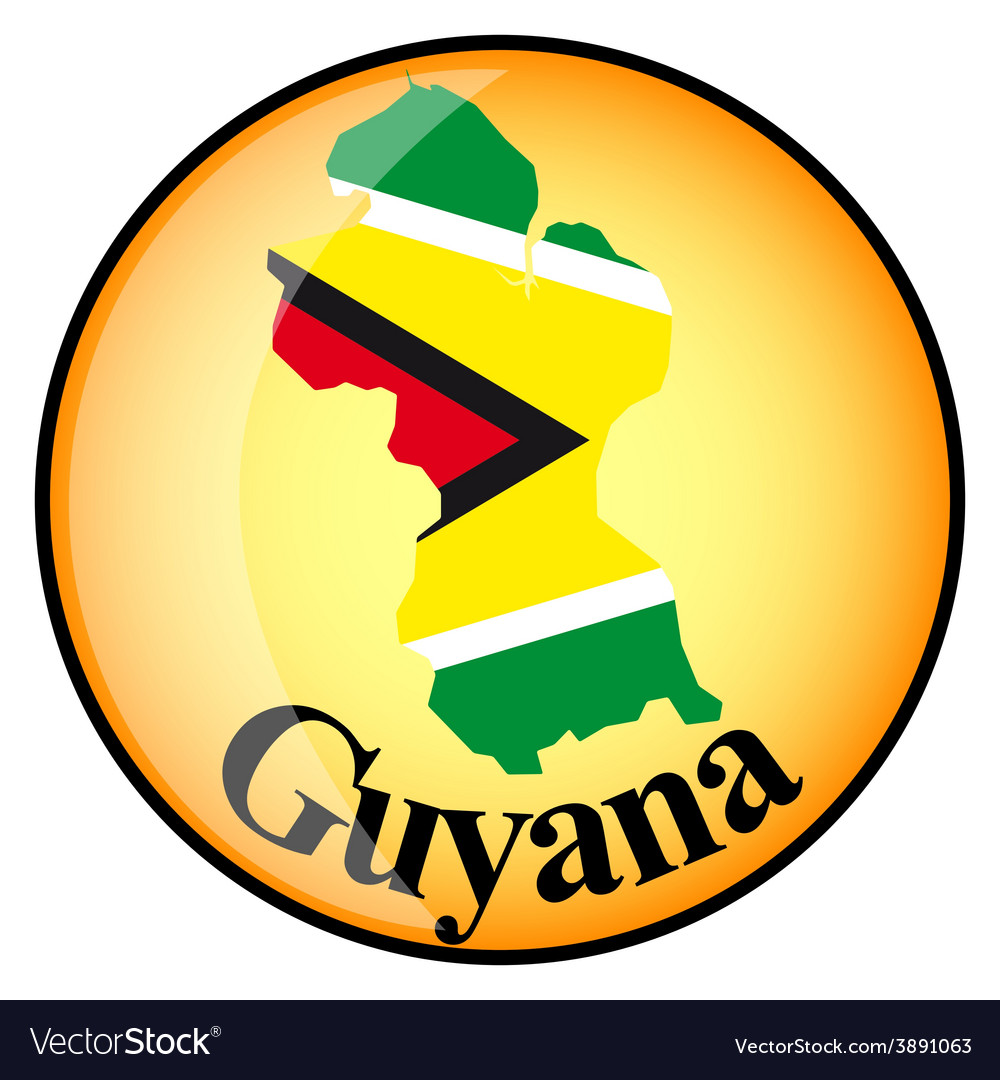 Button guyana vector | Price: 1 Credit (USD $1)