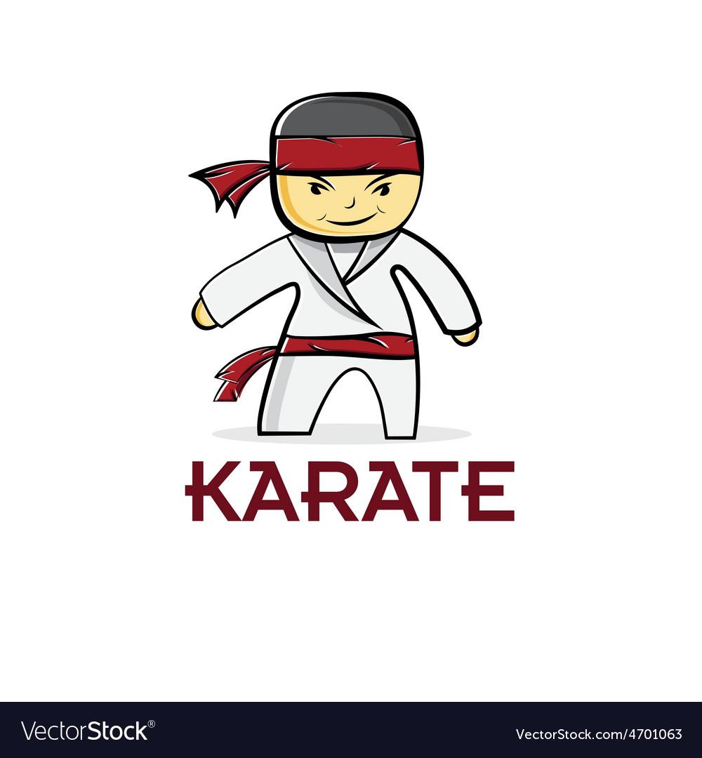 Cartoon karate boy vector   Price: 1 Credit (USD $1)