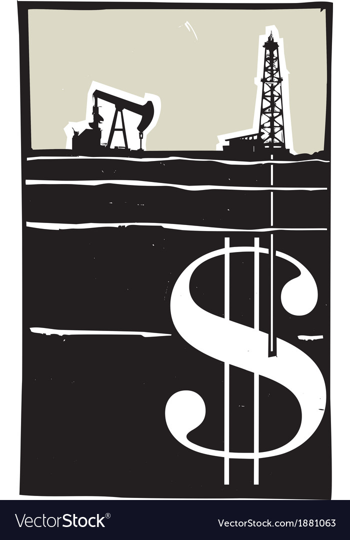 Drilling for money vector | Price: 1 Credit (USD $1)
