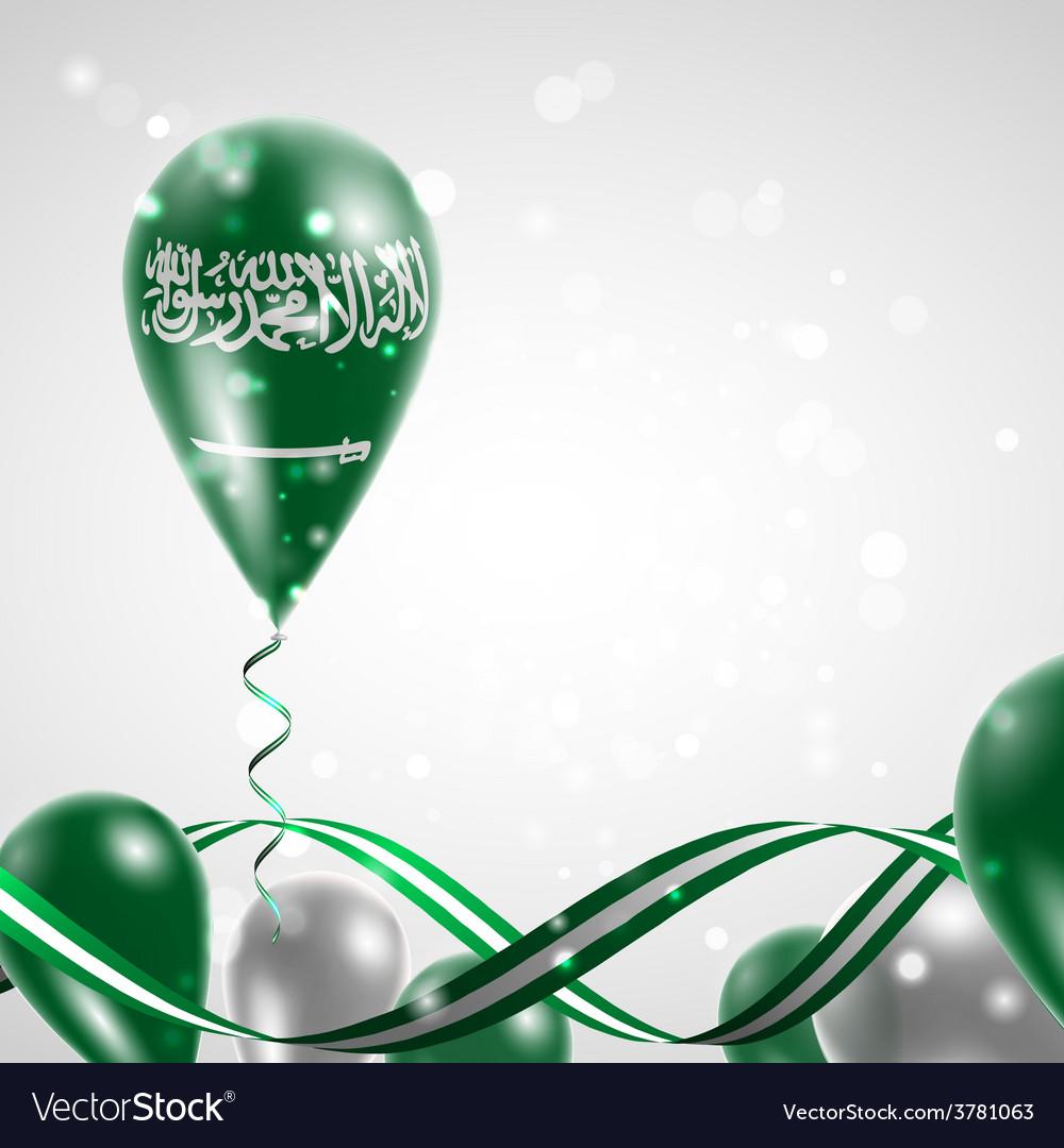 Flag of saudi arabia on balloon vector | Price: 3 Credit (USD $3)