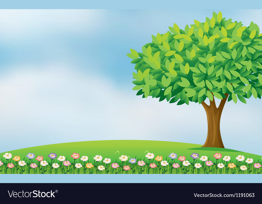 Flowers in the hill vector | Price: 1 Credit (USD $1)