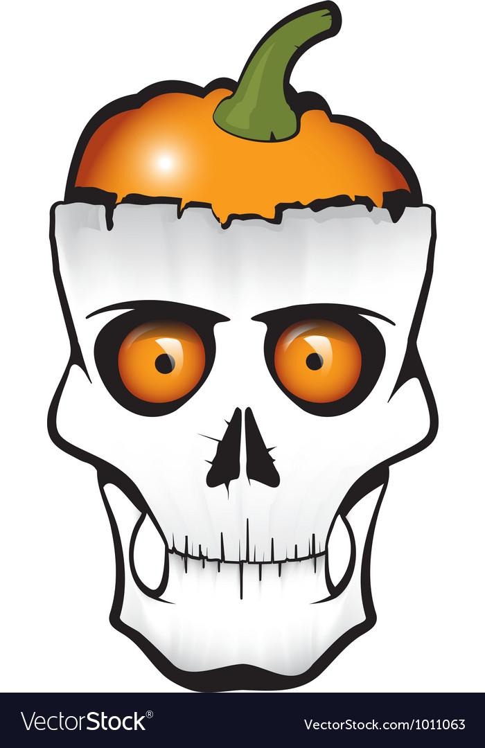 Halloween pumpkin skull vector | Price: 1 Credit (USD $1)