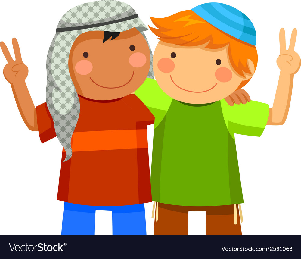 Kids making peace vector   Price: 1 Credit (USD $1)