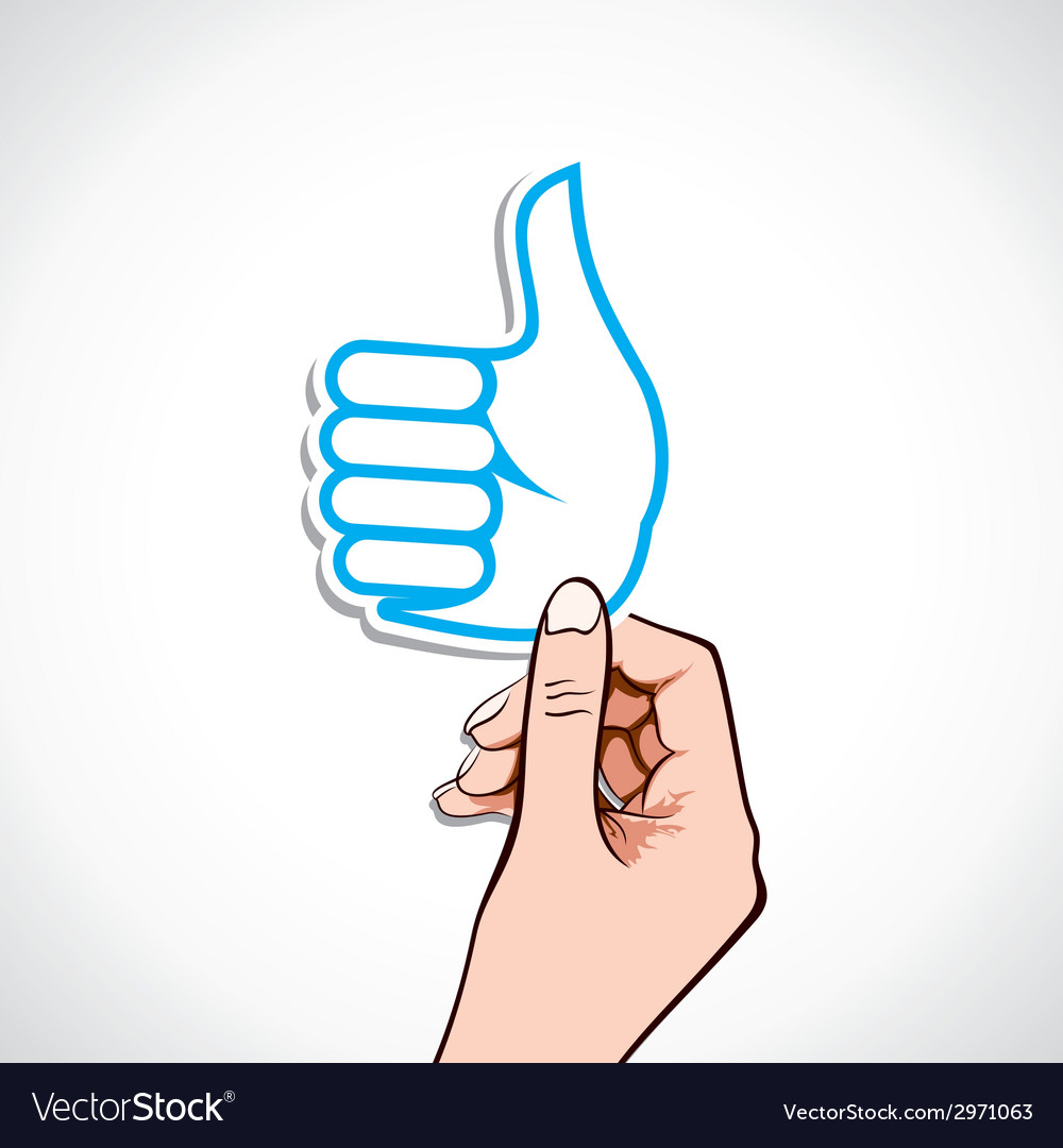 Like symbol in hand vector | Price: 1 Credit (USD $1)