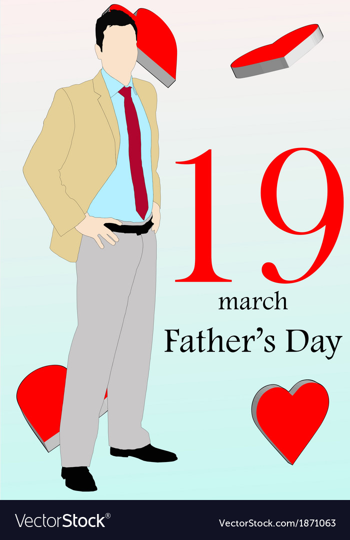 March 19 fathers day version 2 vector | Price: 1 Credit (USD $1)