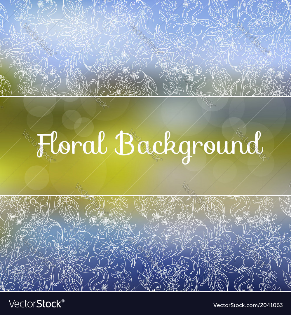 Ornamental floral background vector   Price: 1 Credit (USD $1)