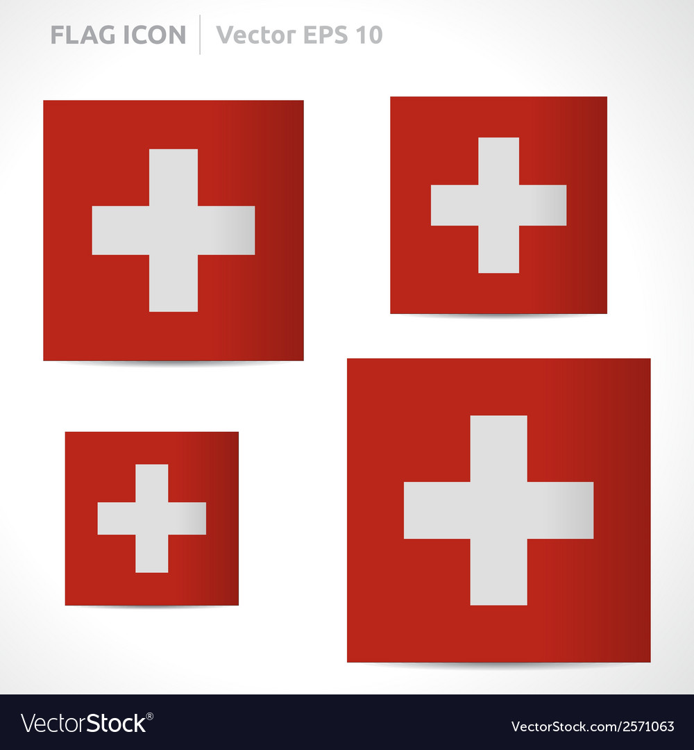 Switzerland flag template vector | Price: 1 Credit (USD $1)