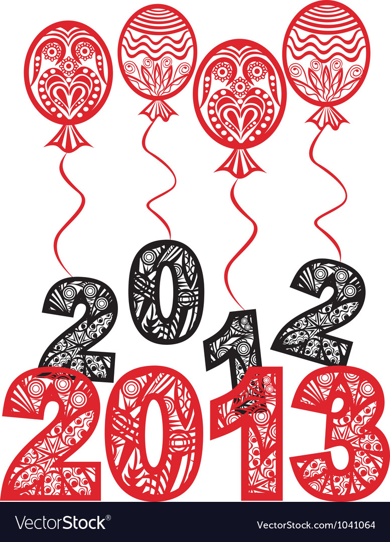2013 new year background vector | Price: 1 Credit (USD $1)