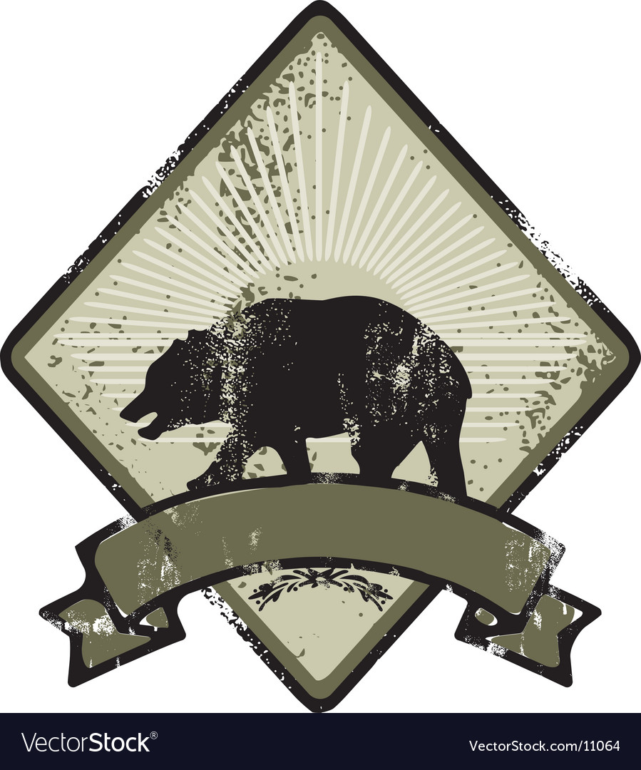 Bear army emblem vector | Price: 1 Credit (USD $1)