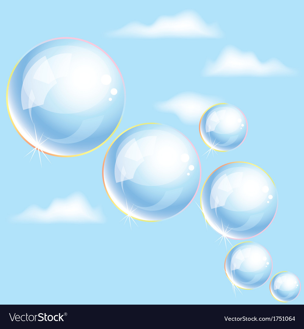 Bubbles in the sky vector | Price: 1 Credit (USD $1)