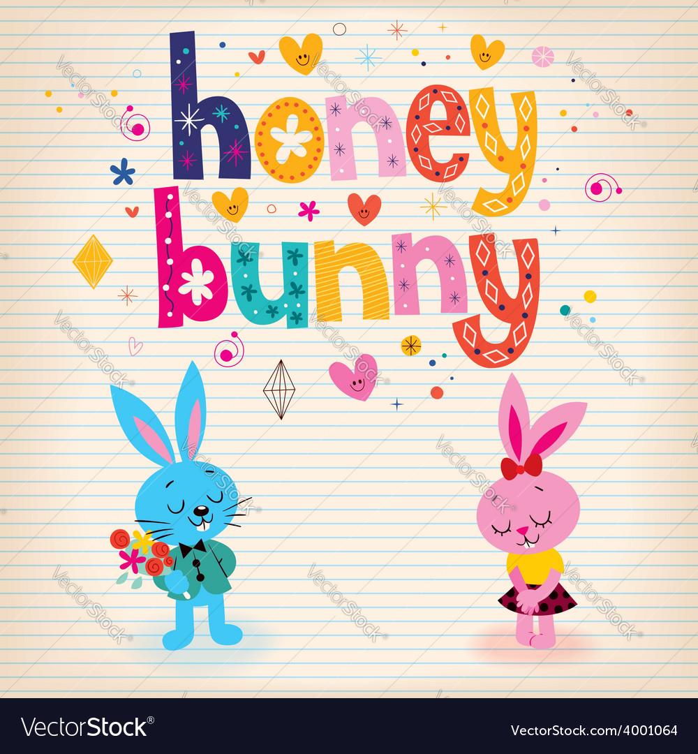 Honey bunny vector | Price: 1 Credit (USD $1)