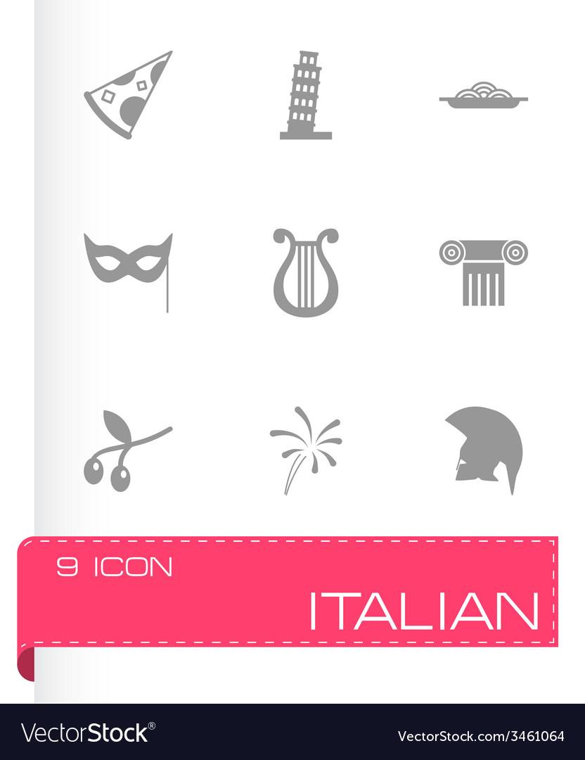 Italian icon set vector | Price: 1 Credit (USD $1)
