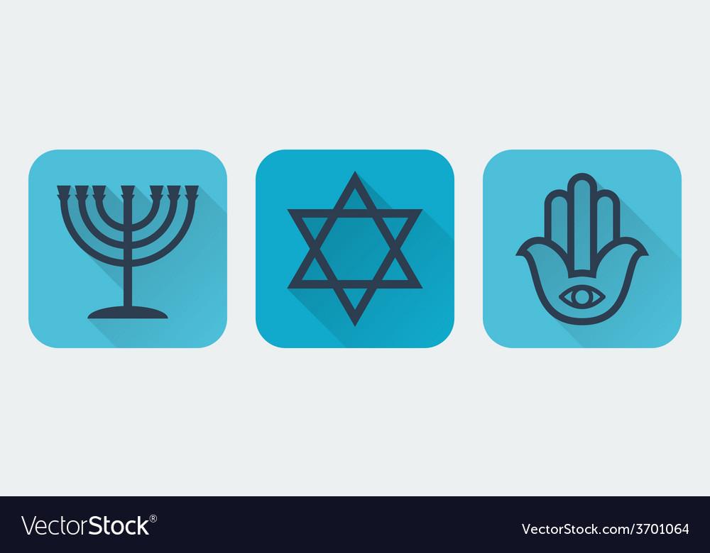 Judaism flat vector | Price: 1 Credit (USD $1)