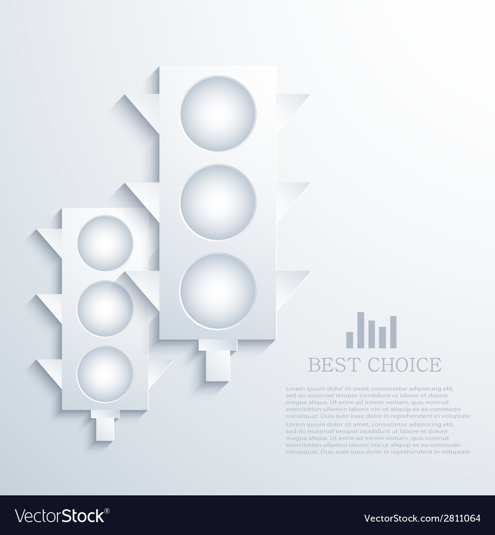 Modern traffic infographic background vector | Price: 1 Credit (USD $1)