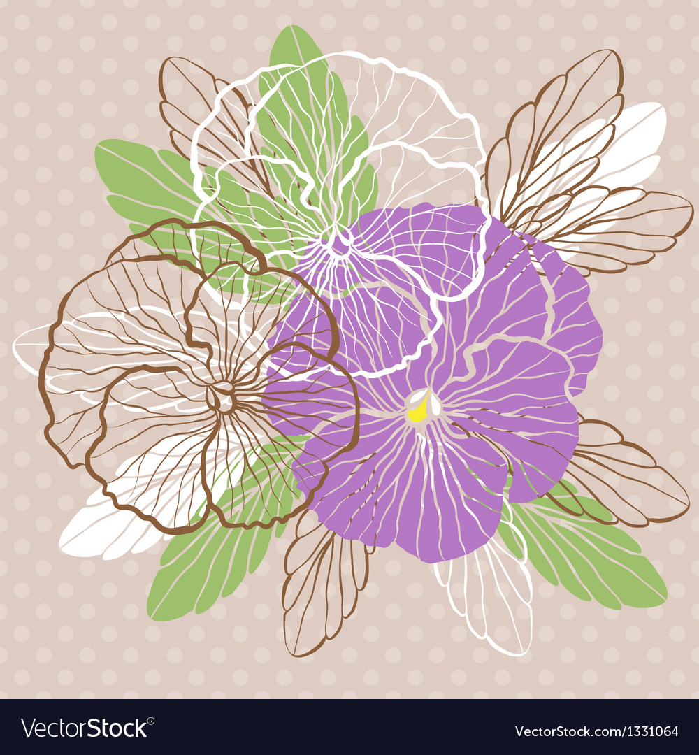 Pansies vector | Price: 1 Credit (USD $1)