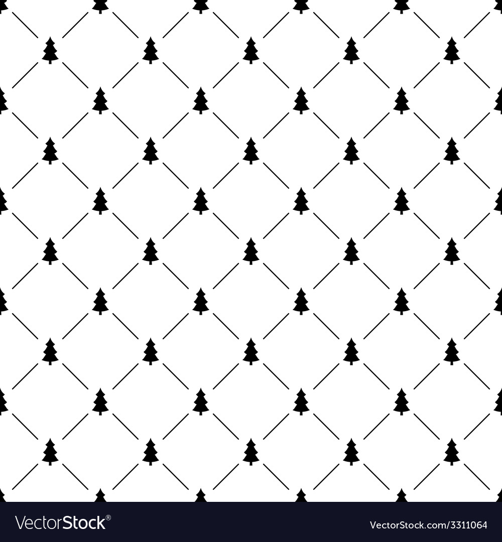 Seamless simple pattern with christmas tree vector | Price: 1 Credit (USD $1)