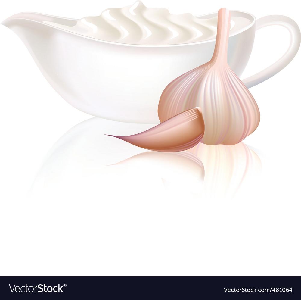 Sour cream and garlic vector | Price: 1 Credit (USD $1)