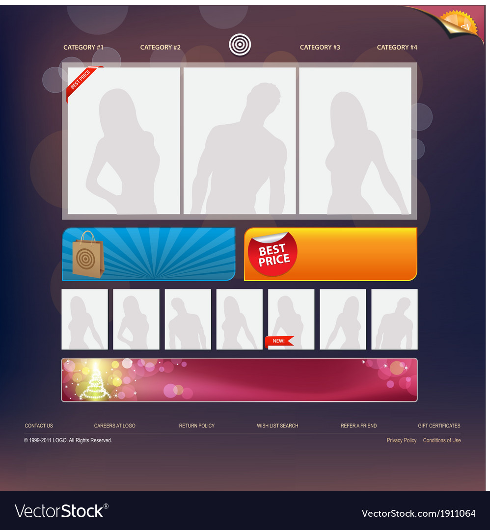Web site design template vector | Price: 1 Credit (USD $1)