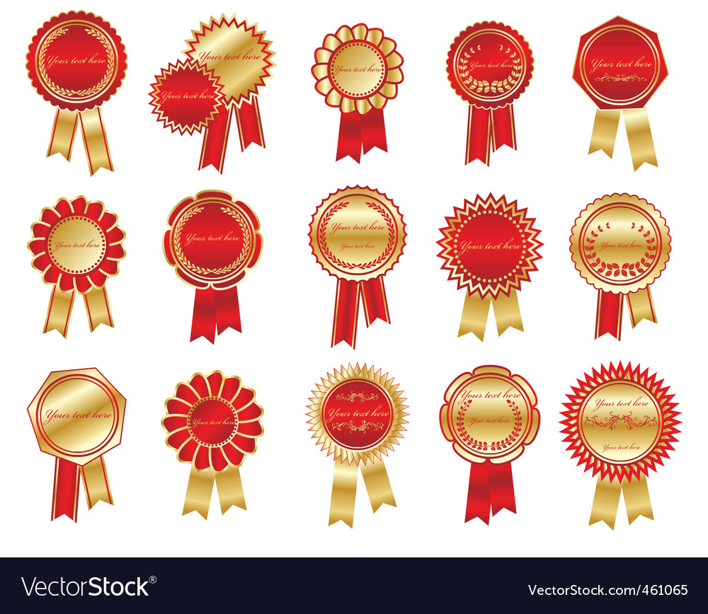 Award rosettes vector | Price: 1 Credit (USD $1)