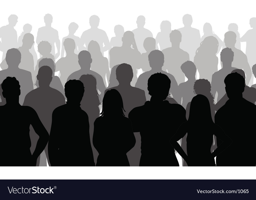 Close up crowd vector | Price: 1 Credit (USD $1)