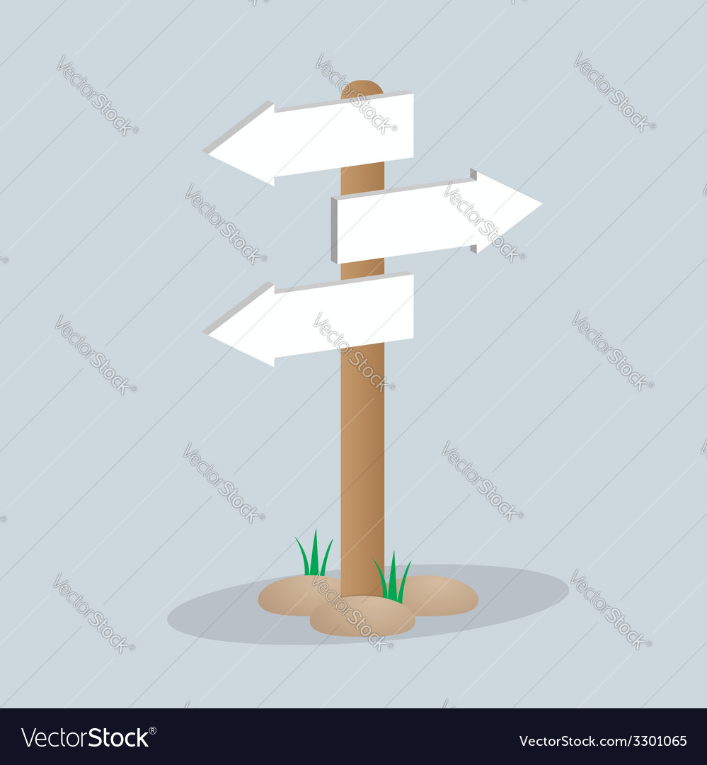 Direction arrow sign vector | Price: 1 Credit (USD $1)