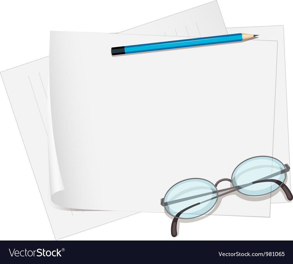 Glasses and paper vector | Price: 1 Credit (USD $1)