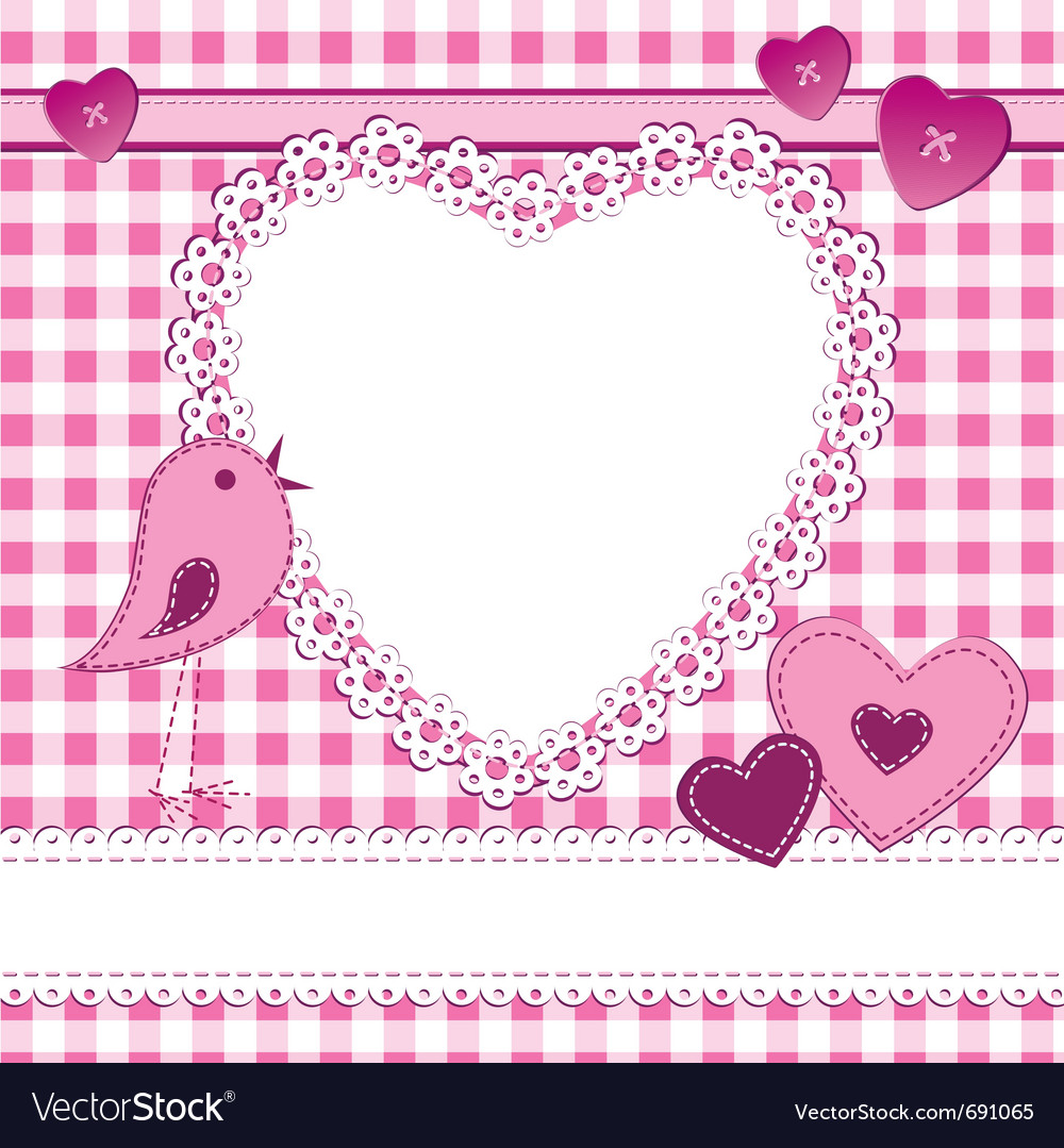 Heart shape frame in a scrapbook stylehoto fram vector | Price: 1 Credit (USD $1)