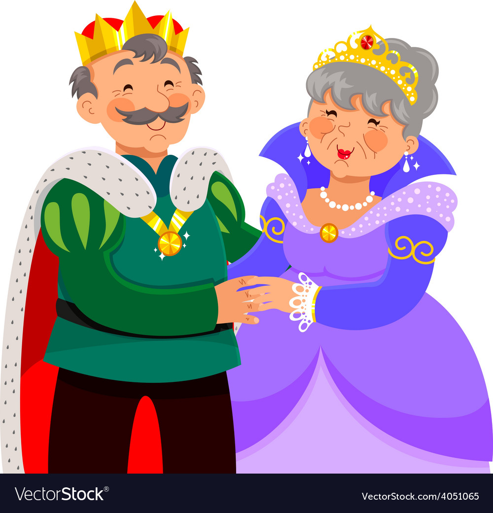 Mature king and queen vector | Price: 1 Credit (USD $1)