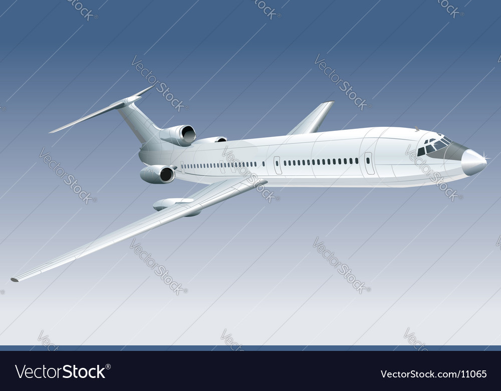 Passenger jet vector | Price: 3 Credit (USD $3)