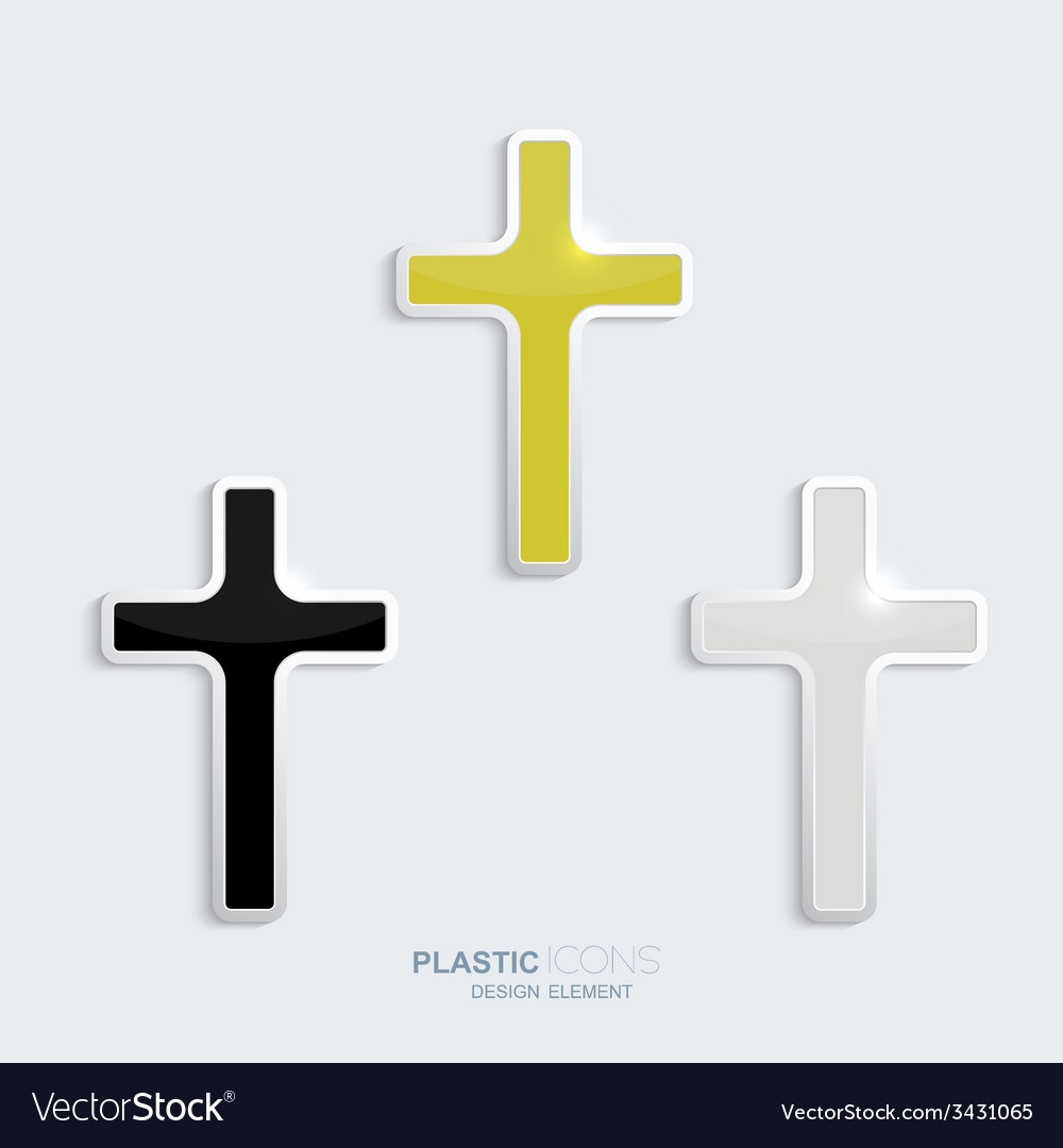 Set of crosses in a plastic style vector | Price: 1 Credit (USD $1)