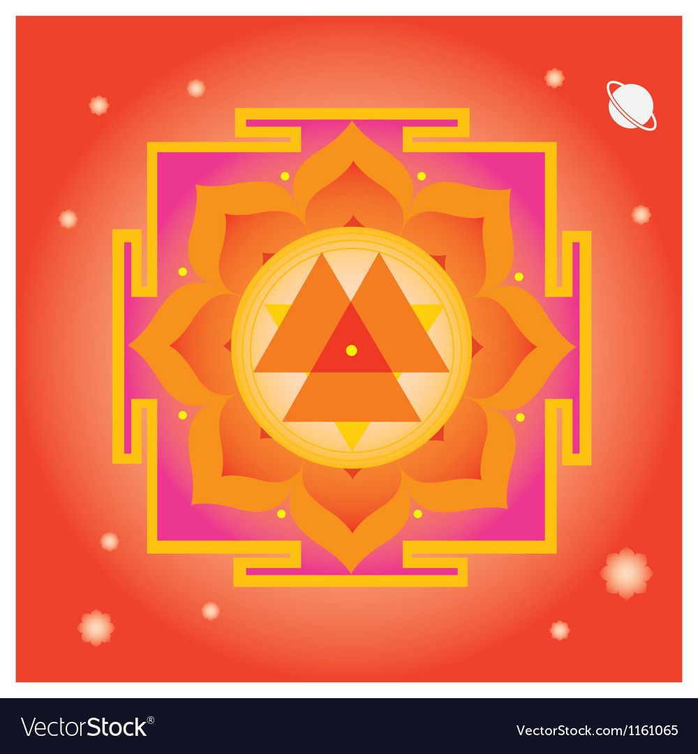 Spring yantra for wellbeing vector | Price: 1 Credit (USD $1)