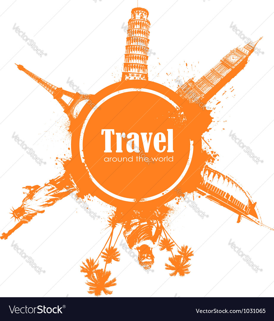 Travel design element vector | Price: 1 Credit (USD $1)