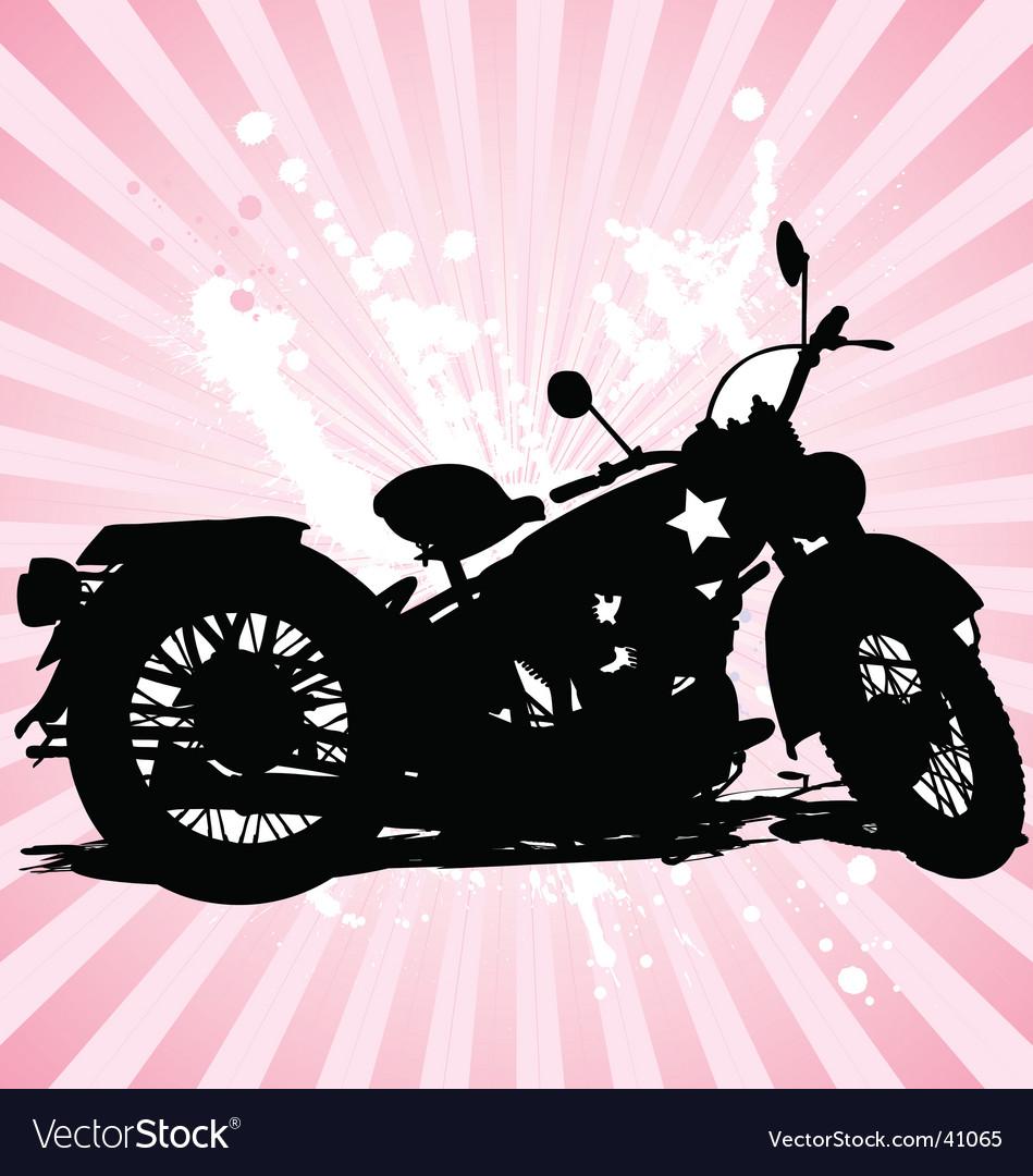 Vintage motorcycle vector | Price: 1 Credit (USD $1)