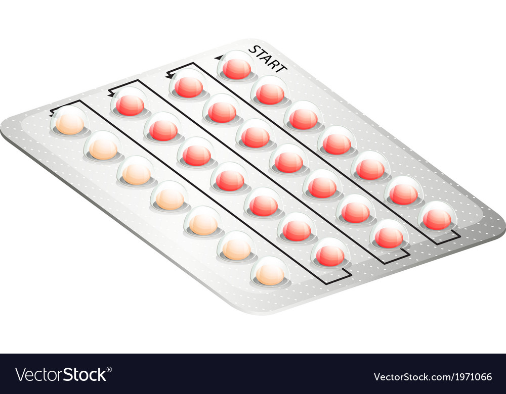 A birth control pill vector | Price: 1 Credit (USD $1)