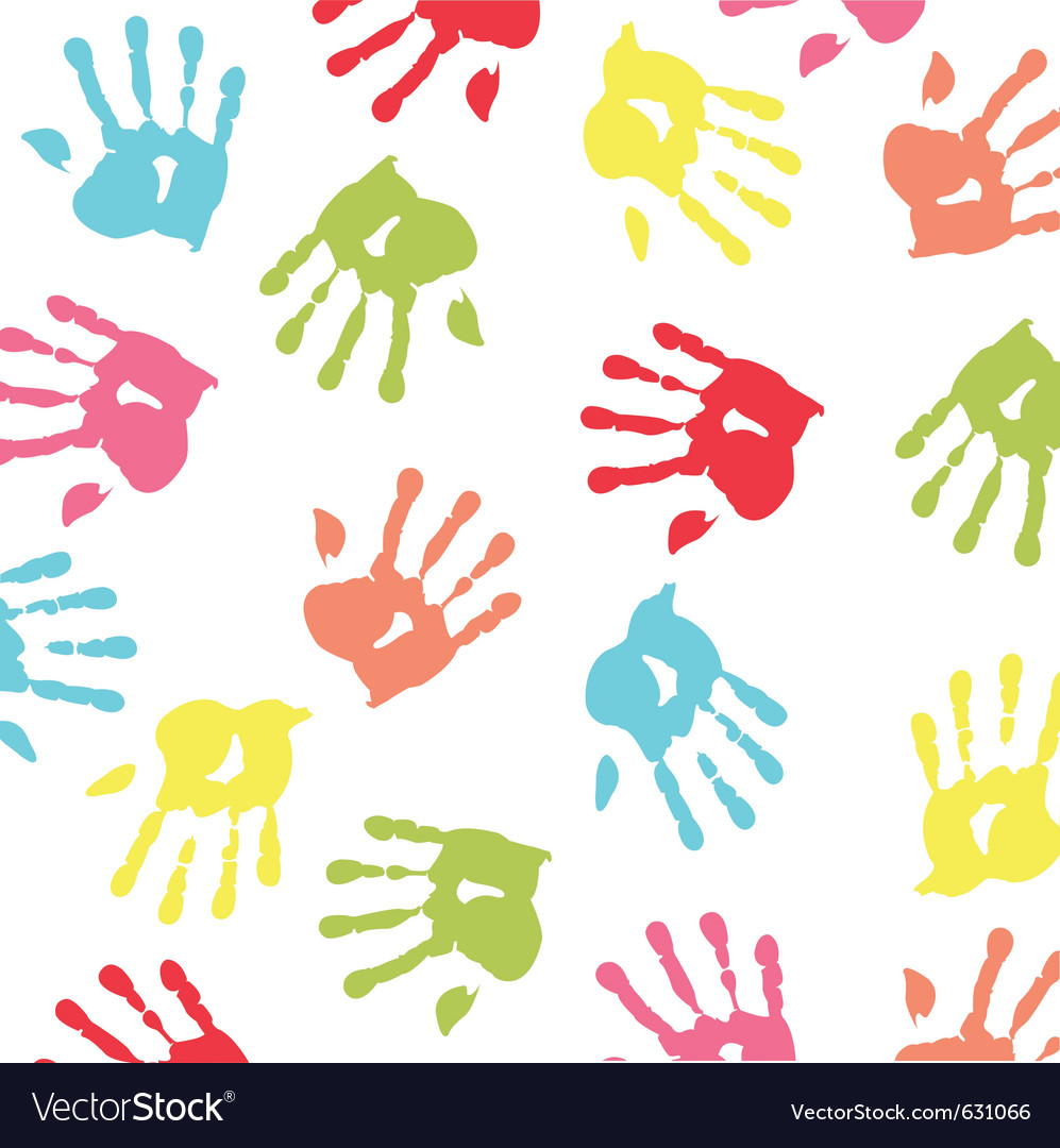 Baby handprint wallpaper vector | Price: 1 Credit (USD $1)