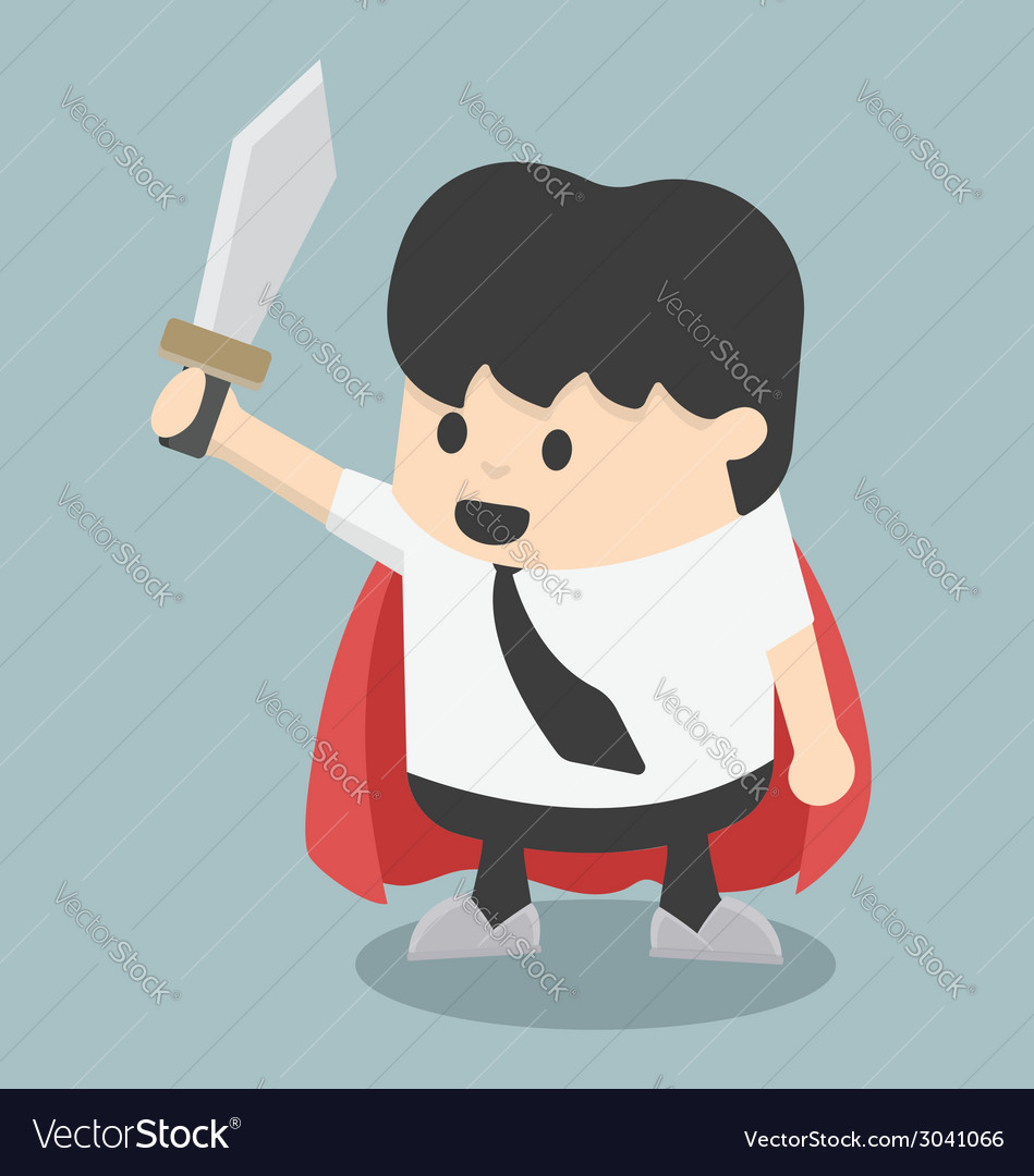 Businessman sword vector | Price: 1 Credit (USD $1)