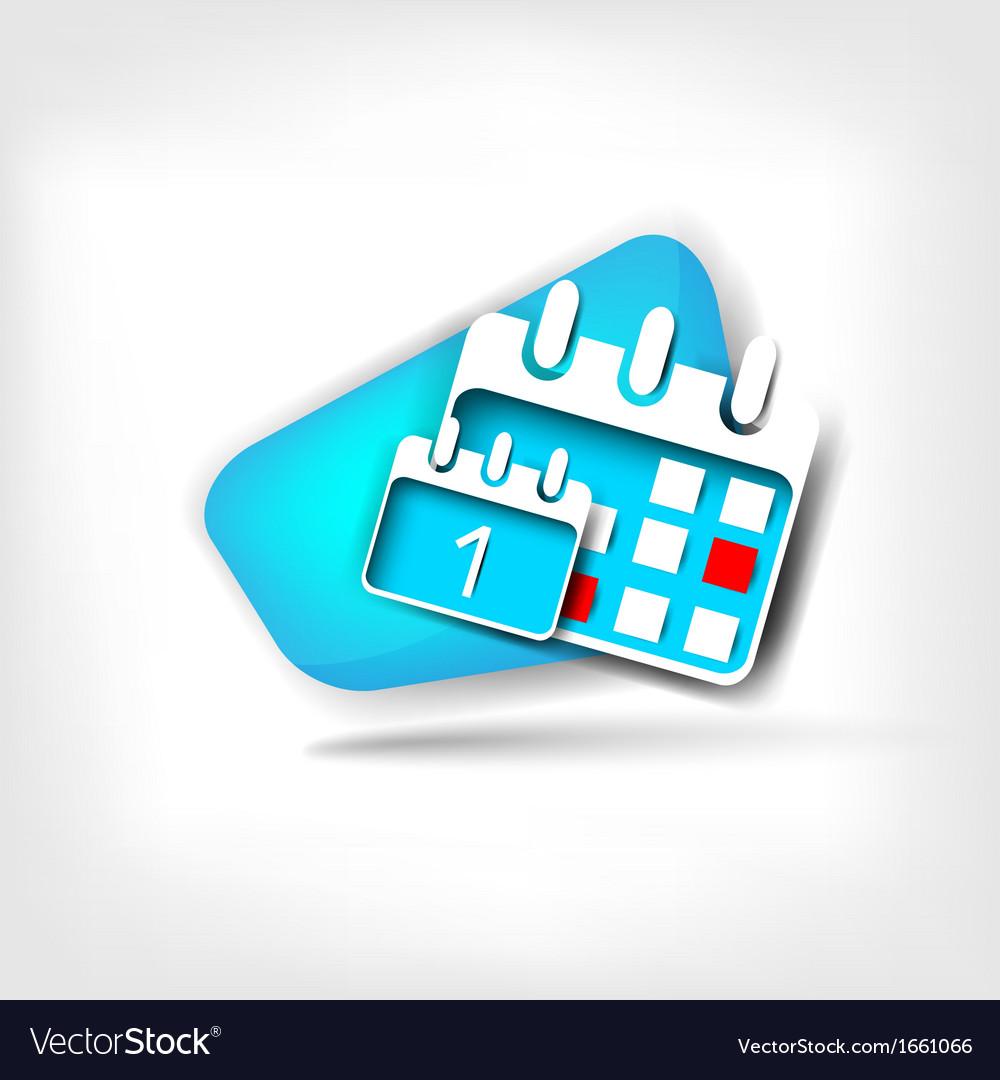 Calendar organizer web icon vector | Price: 1 Credit (USD $1)