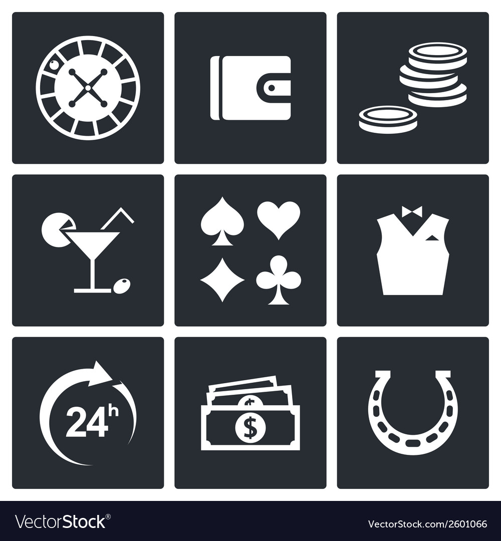 Casino and luck icon set vector | Price: 1 Credit (USD $1)