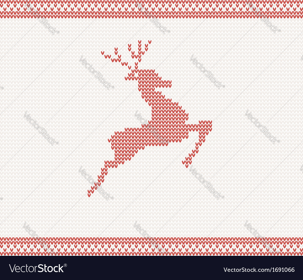Christmas and winter knitted pattern vector | Price: 1 Credit (USD $1)