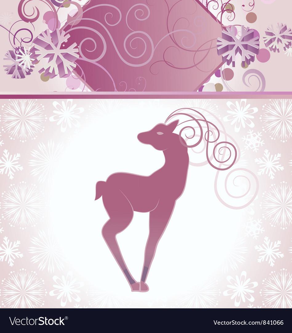 Christmas decor deer vector | Price: 1 Credit (USD $1)