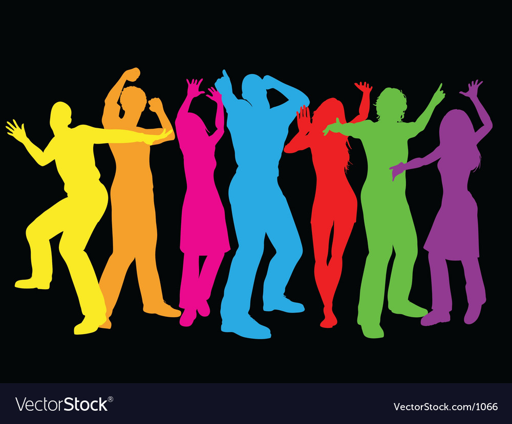 Colourful dancers vector | Price: 1 Credit (USD $1)