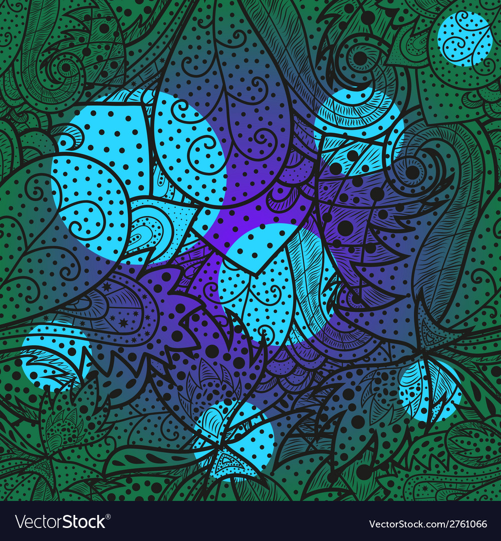 Eamless wave hand-drawn pattern with bright spots vector | Price: 1 Credit (USD $1)