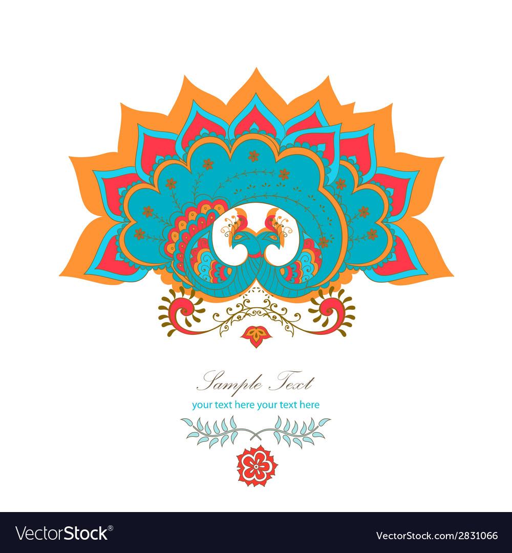Magic decorative hindu peacock vector | Price: 1 Credit (USD $1)