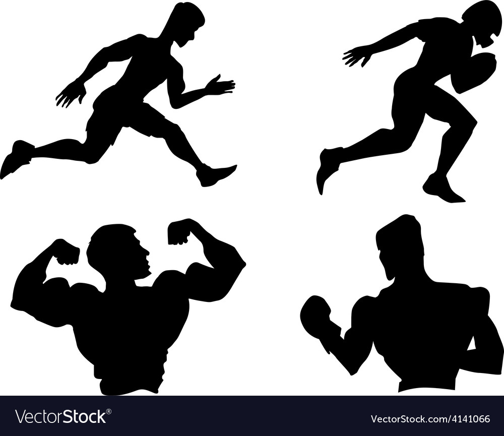 Set of silhouettes of different sports vector | Price: 1 Credit (USD $1)