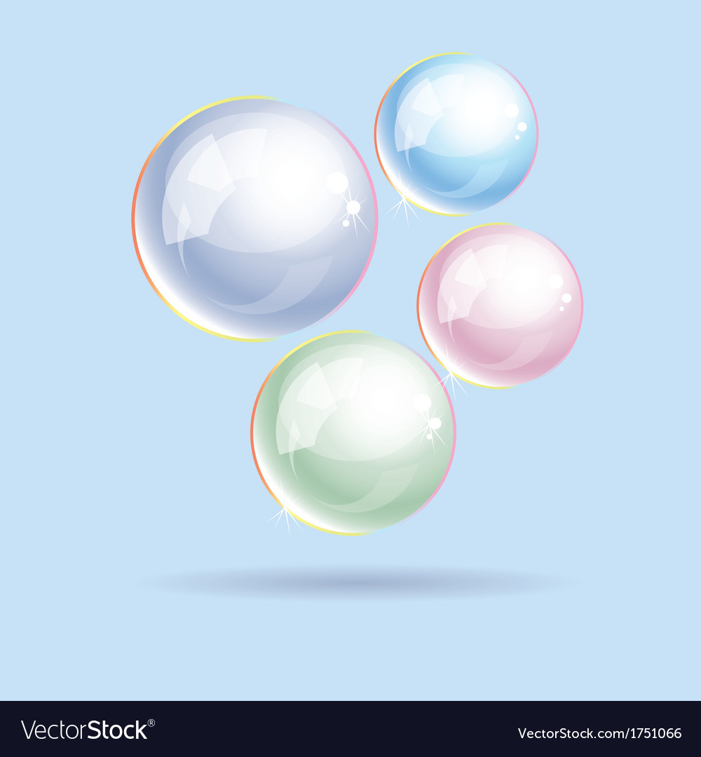 Soap bubbles vector | Price: 1 Credit (USD $1)