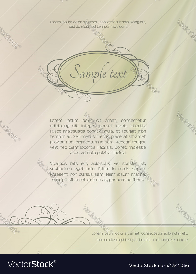 Vintage abstract frame silk wave background vector | Price: 1 Credit (USD $1)