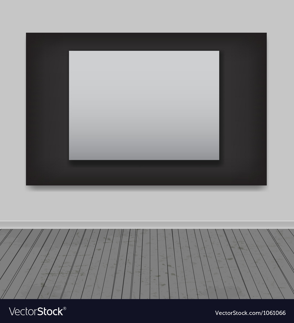 White frames in art gallery vector   Price: 1 Credit (USD $1)