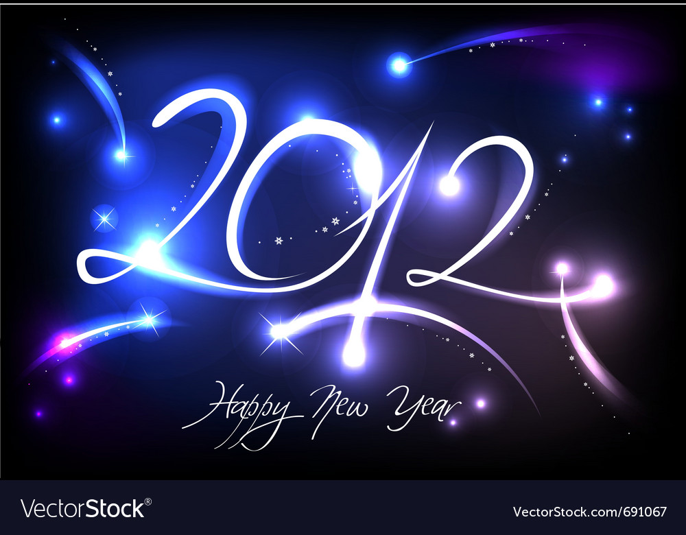 2012 new years banner vector | Price: 1 Credit (USD $1)