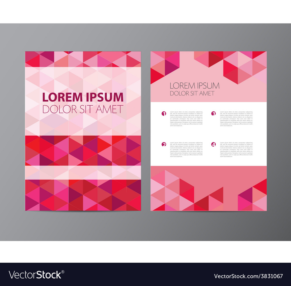 Abstract crystal pink red modern flyer vector | Price: 1 Credit (USD $1)